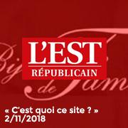 L'Est Républicain 2/11/18